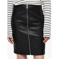 AllSaints Axel Faux Leather Skirt, Black