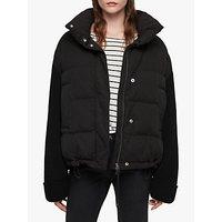 AllSaints Ines Knit Puffer Jacket, Black