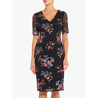 Adrianna Papell Maria Sheath Dress, Black/Multi