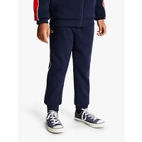 Lacoste Boys Striped Tracksuit Trousers, Navy