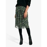 hush Dionne Animal Print Skirt, Olive Green