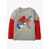 Mini Boden Boys' Party Animal T-Shirt, Grey