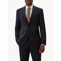 Jaeger Wool Windowpane Check Regular Fit Suit Jacket, Navy