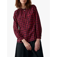 Toast Gingham Cotton Shirt, Red/Navy