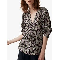 Toast Ditzy Floral Print Top, Washed Pink/Multi
