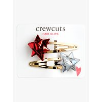 crewcuts by J.Crew Girls' Gift Bow Hair Clip, Pack of 2, Metallic Multi