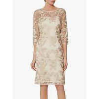 Gina Bacconi Rehka Floral Lace Dress, Gold