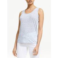 John Lewis & Partners Scoop Back Linen Stripe Vest