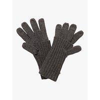 Karen Millen Vanna Fold Gloves, Dark Grey