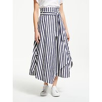 Weekend MaxMara Stripe Poplin Maxi Skirt, Ultra Marine