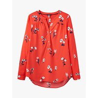 Joules Rosamund Floral Print Blouse, Red/Multi
