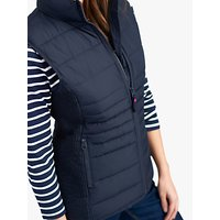 Joules Fallow Padded Funnel Neck Gilet, Marine Navy