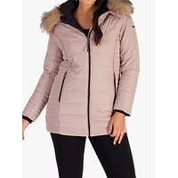 Chesca Faux Fur Trimmed Hood Coat, Pink