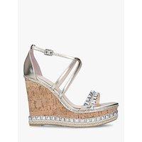 shop for Carvela Grab Embellished High Heel Wedge Sandals, Gold at Shopo
