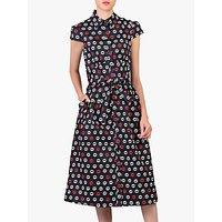 shop for Jolie Moi Lip Print Shirt Dress, Black at Shopo