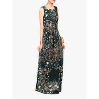 shop for Jolie Moi Star Print Belted Maxi Dress, Dark Green at Shopo