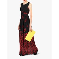 Jolie Moi Floral Print Maxi Dress, Black