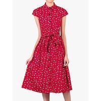 shop for Jolie Moi Raccoon Print Shirt Dress, Red at Shopo