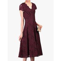 shop for Jolie Moi Cap Sleeve Lace Dress, Burgundy at Shopo
