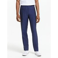 Tiger of Sweden Linen Slim Fit Suit Trousers, Light Ink