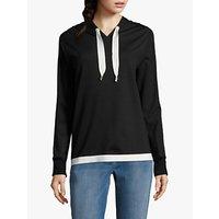 Betty Barclay Hooded Sweatshirt, Black/Cream