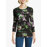 Betty Barclay Floral Print Top, Black