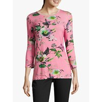 Betty Barclay Floral Jersey Top, Pink
