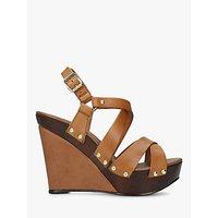 Carvela Kassandra High Platform Sandals, Tan Leather