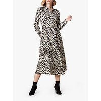 Karen Millen Zebra Print Midi Shirt Dress, Multi