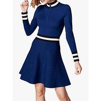 Karen Millen Sporty Stripe Dress, Blue/Multi