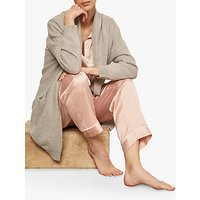 Hygge by Mint Velvet Cashmere Cocoon Cardigan, Light Grey