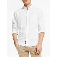 John Lewis and Partners Linen Cotton Slim Fit Shirt, White