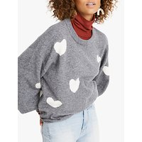 Madewell Heart Forget Me Not Jumper, Heather Evening