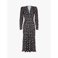 Ghost Birdie Floral Midi Dress, Leona Rose