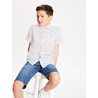 John Lewis and Partners Boys Linen Shirt, White