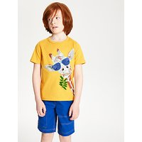 John Lewis and Partners Boys Giraffe Print T-Shirt, Mid Yellow