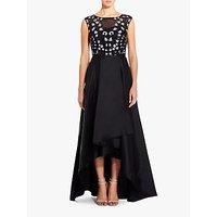 Adrianna Papell A-Line Tafetta Dress, Black/Ivory