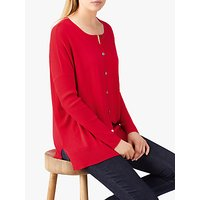 Pure Collection Merino Wool Cardigan, Pillarbox Red