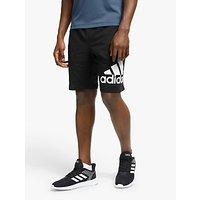 shop for adidas 4KRFT Badge of Sport Graphic Training Shorts, Black at Shopo