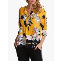 Betty & Co Floral Print Blouse, Yellow/Black