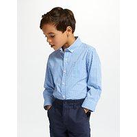 John Lewis & Partners Heirloom Collection Boys' Gingham Shirt, Blue