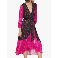 Ghost Chloe Dress, Pink/Black