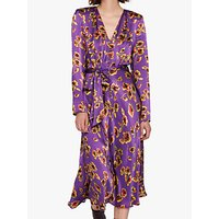 shop for Ghost Meryl Floral Satin Tie Waist Dress, Smudge Botanica at Shopo