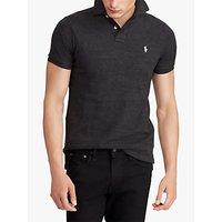 Polo Ralph Lauren Mesh Polo Shirt, Black Marl Heather