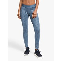 Adidas Alphaskin 7/8 Polka Dot Training Tights, Tech Ink/legend Ink