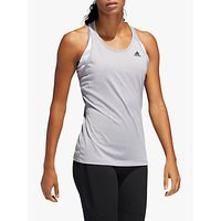 adidas Tech Prime 3-Stripes Training Tank Top, Multi Solid Grey/Heather
