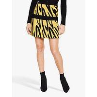 shop for Damsel in a Dress Lia Zebra Print Skirt, Black/Yellow at Shopo