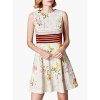 Karen Millen Garden Floral Print Dress, Multi