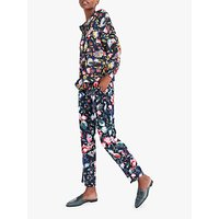 J.Crew Verity Floral Long Sleeve Silk Blouse, Navy