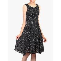 shop for Jolie Moi Star Print Dress, Black at Shopo